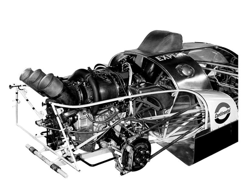 Размещение турбины Continental TS325-1 на шасси Howmet TX.