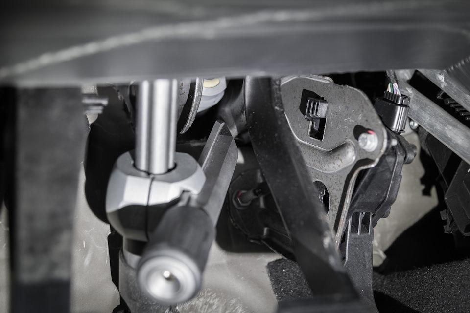 Установка гарант на рулевой вал