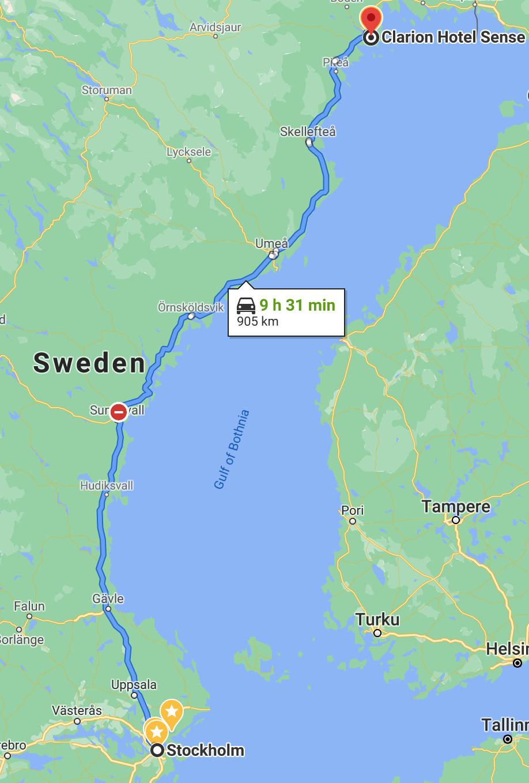 До Luleå