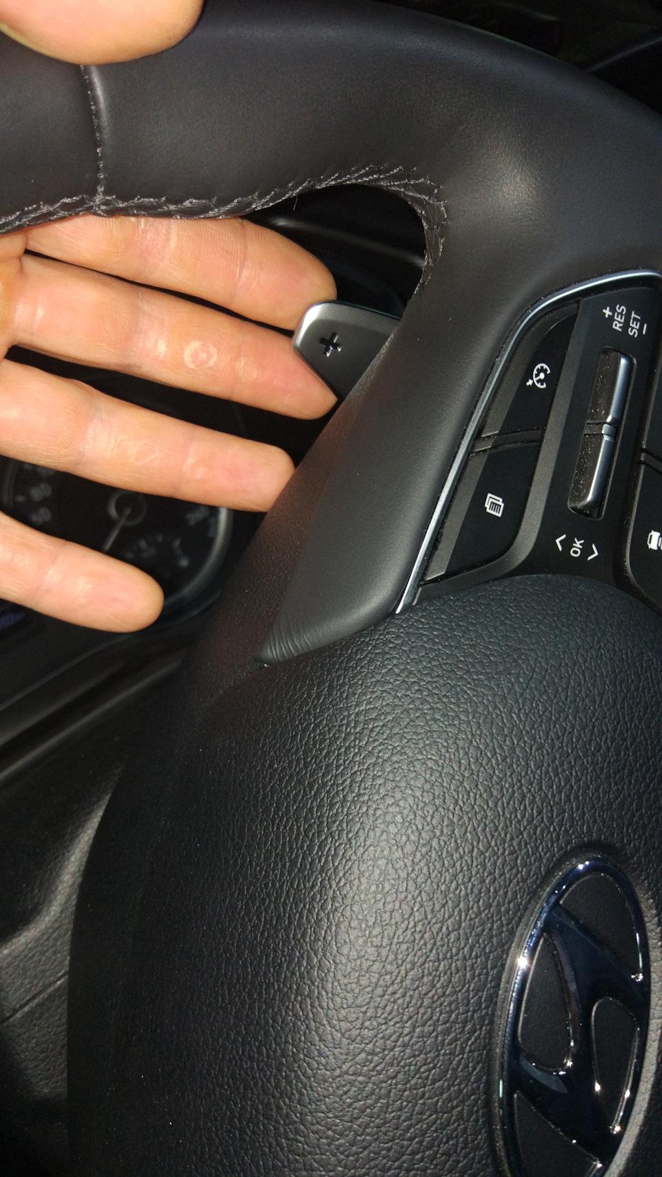 """Подрулевые переключатели скорости """"лепестки"""" Hyundai Samta Fe TM 2018+"""