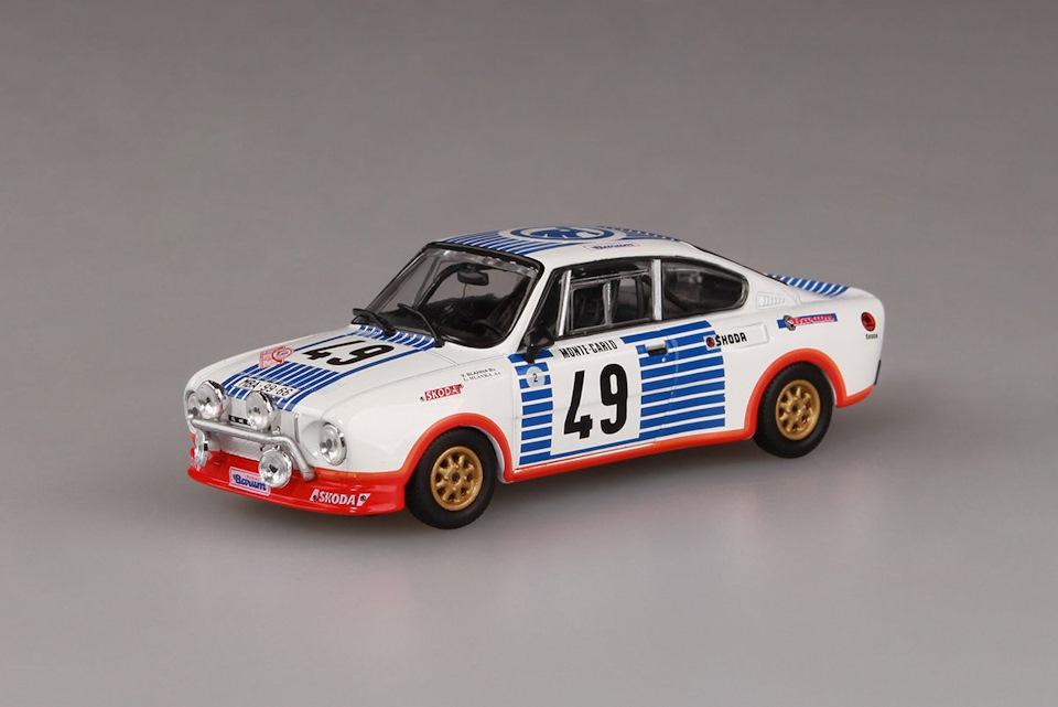 Abrex Skoda 130RS Rallye Monte-Carlo 1977 #49 1:43 143XABS501TA