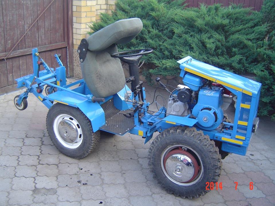 Трактор на базе мотоблока