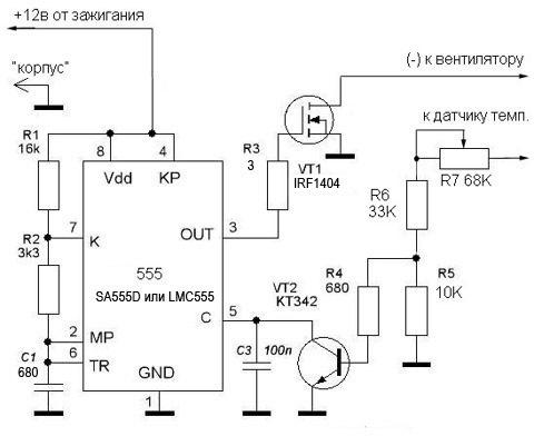 мощности вентилятора 200Вт