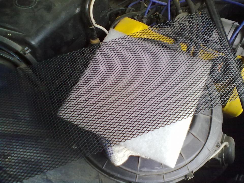 Салонный фильтр авто своими руками