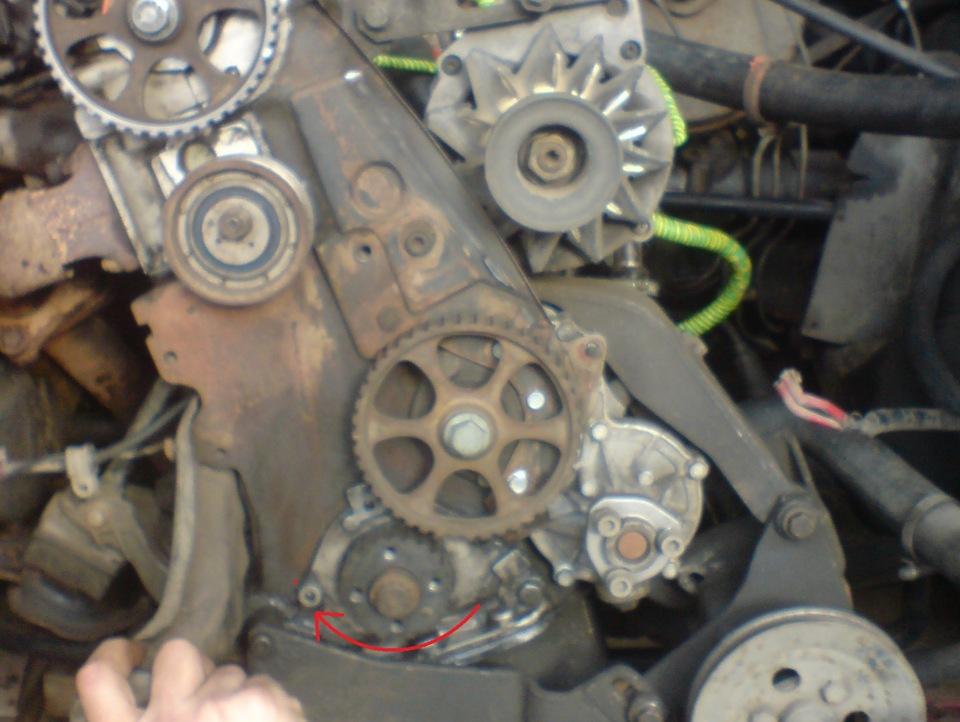 как выставить метки на двигателе audi 80 abk 2.0 фотоотчет
