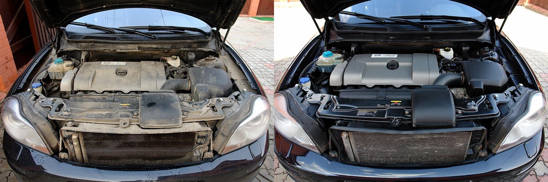 Как мыть двигатель, чтобы не залить проводку?