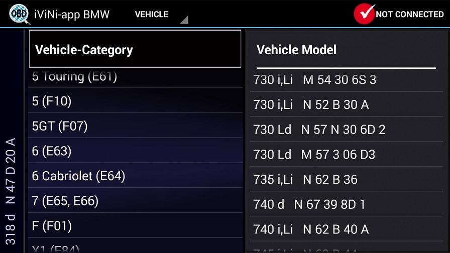 приборе для считывания ошибок bmw e60 520i