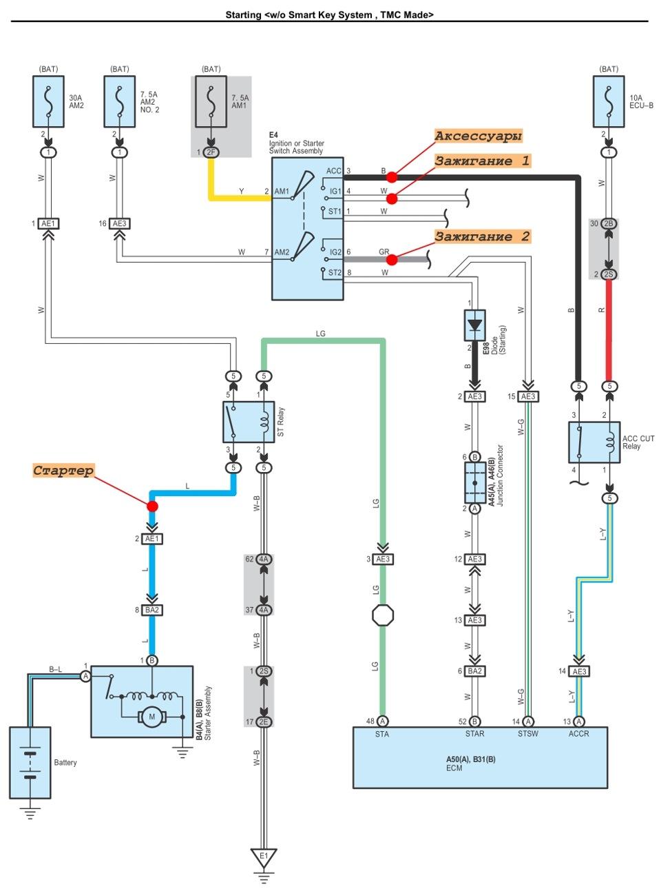 Схема магнитолы тойота королла 150