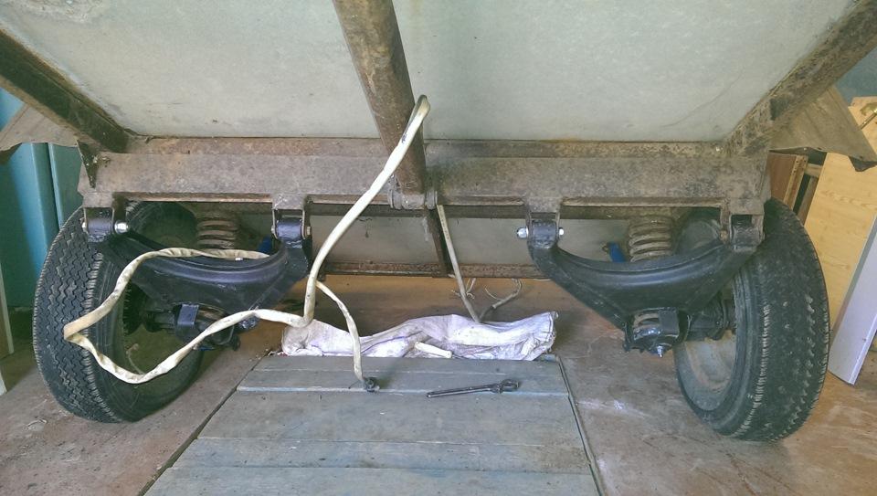 Независимая подвеска для прицепа легкового автомобиля