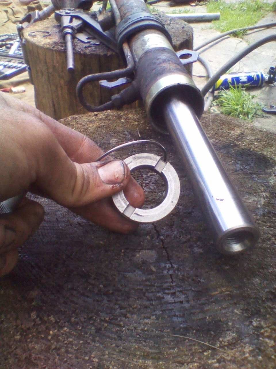 Подтягиваем рулевую рейку на Рено 15