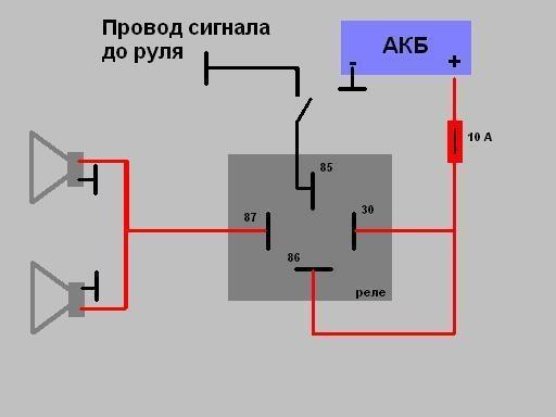 Подключение реле сигналов