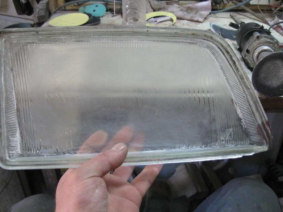 Полировка стекол фар под линзы