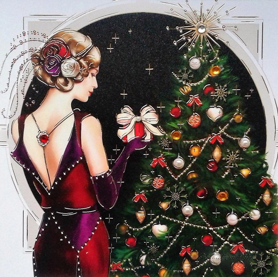 Сне поздравительную, арт новогодние открытки