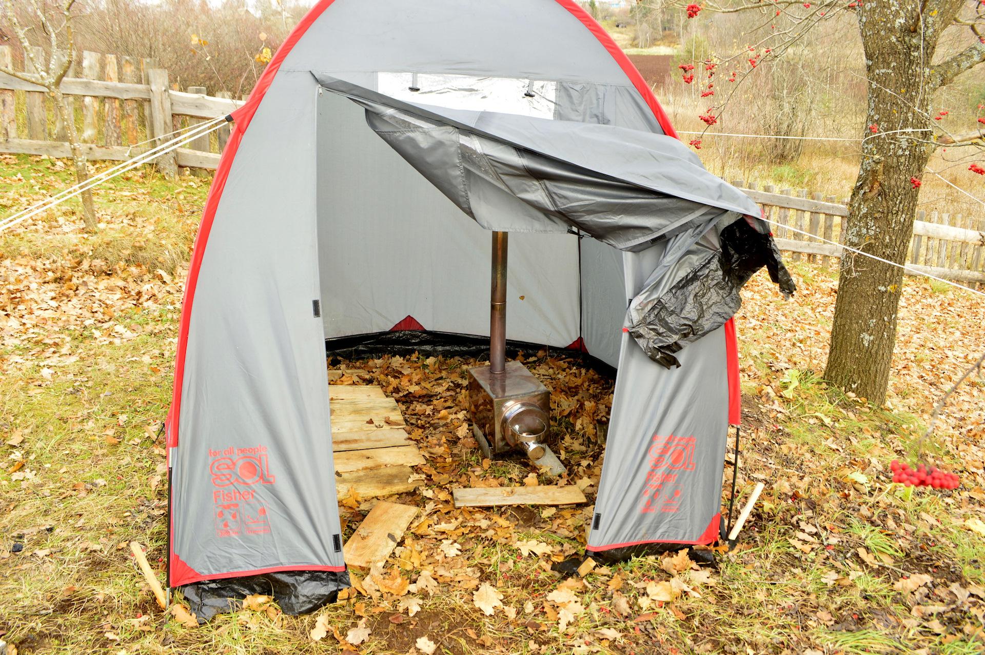 Секс в походной палатке