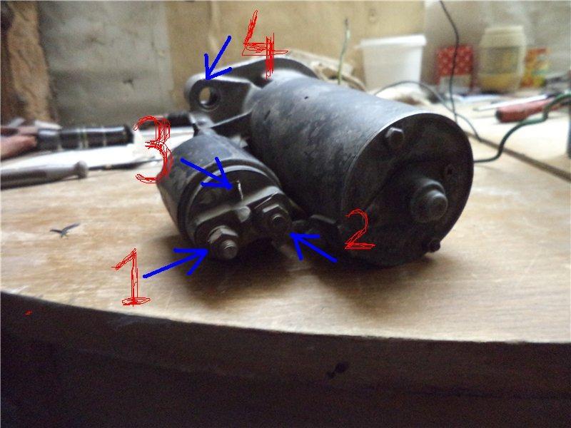 провод от аккумулятора к стартеру для опель