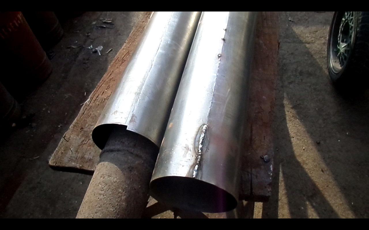 как скрутить лист металла в трубу