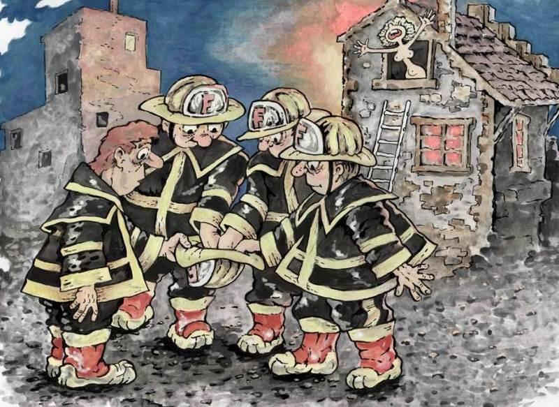 Рисунки прикольные о пожарных