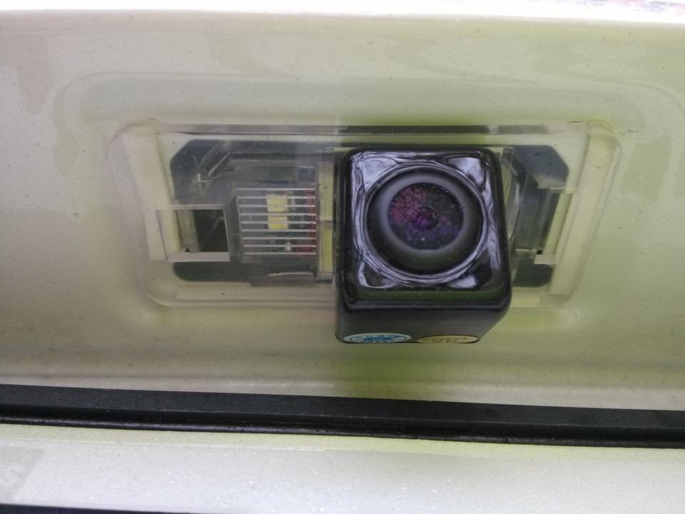 Установка своими руками камеры заднего вида поло седан