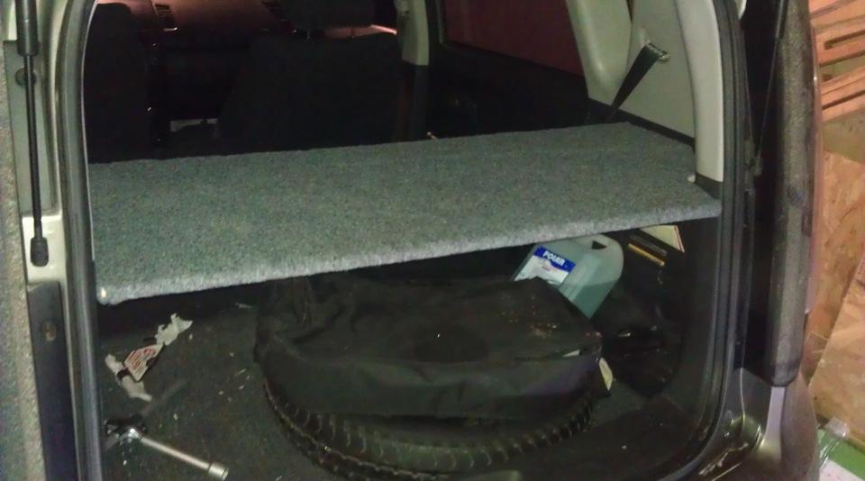 Киа соул нижняя полка в багажник своими руками