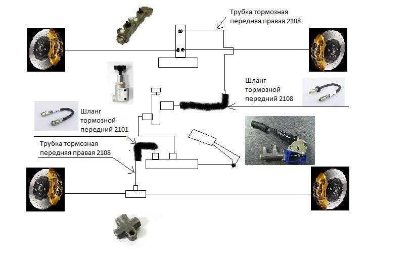 Гидроручник схема подключения