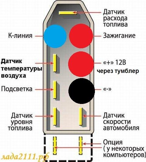 схема подключения к БК