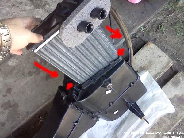 Как заменить радиатор печки гольф 2 видео