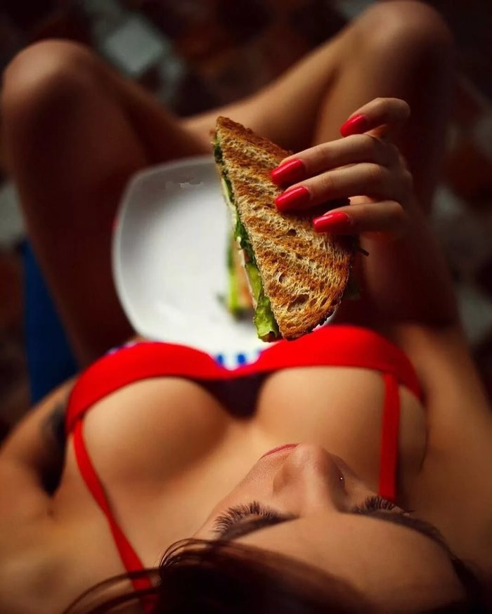 Sexy boobs and food