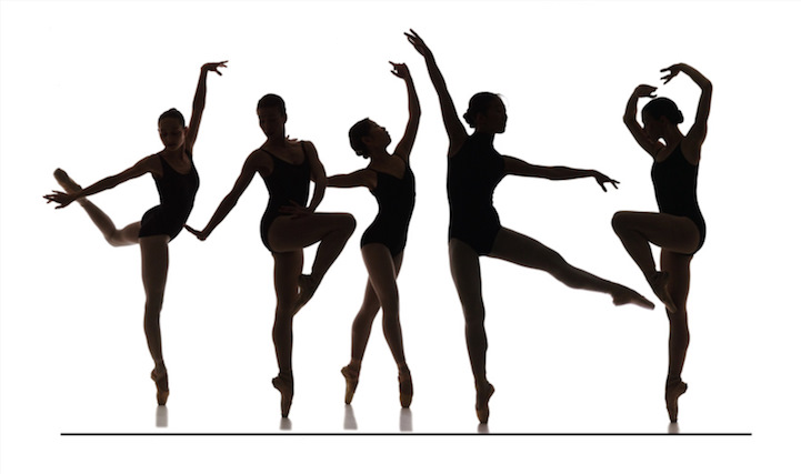 comparing two dance movements from a Graphic comparing the arm movements of the study's lowest rated (top) and highest rated (bottom) dancers judges preferred a medium, amount of independent arm movement.