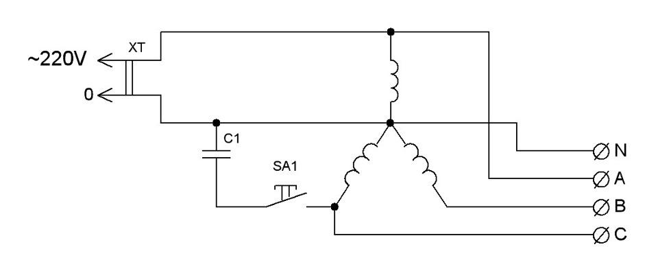 Радиокот:: зг для преобразователя 1 фазы в 3.