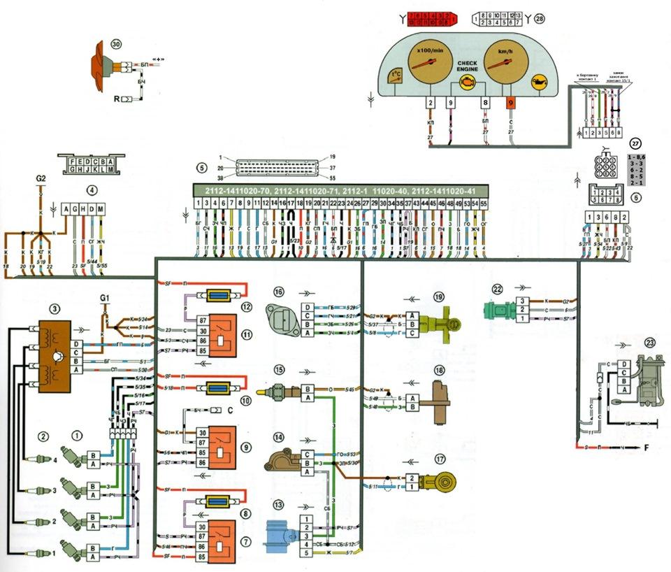 Проводка двигателя (ЭСУД)