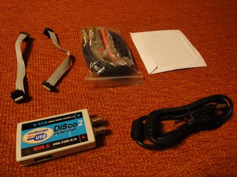 Asp1d.  USB осциллограф DiSco2.
