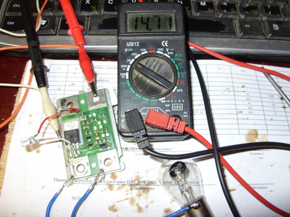 Припаяны провода и кнопка с