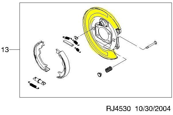Щит тормозного механизма шевроле лачетти