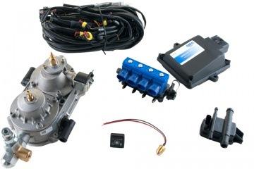 Комплект ГБО для 4-х цилиндрового автомобиля с газовым клапаном до 110 КВ. Увеличить.