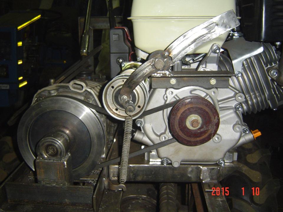 фото ременного сцепления для самодельного трактора знаете