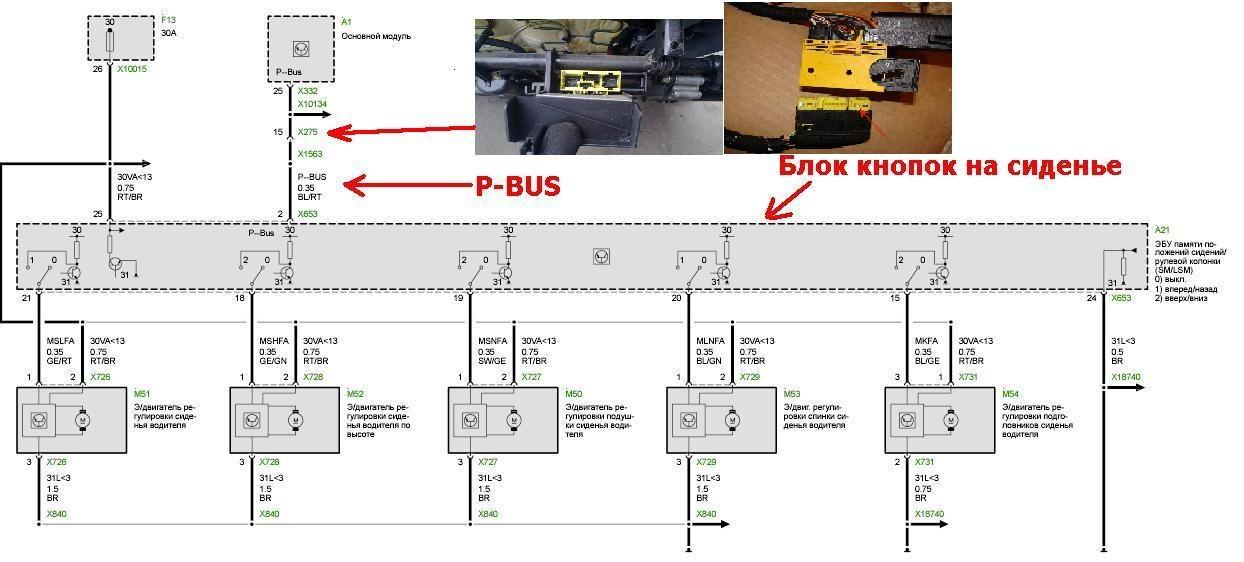 Схема подключения P-Bus