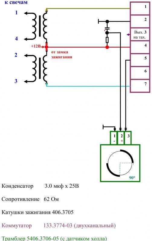 Схема двухканального зажигания