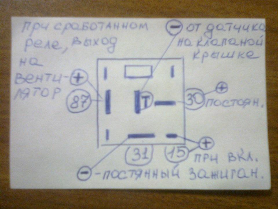 Схема подключения датчика температуры ауди 100
