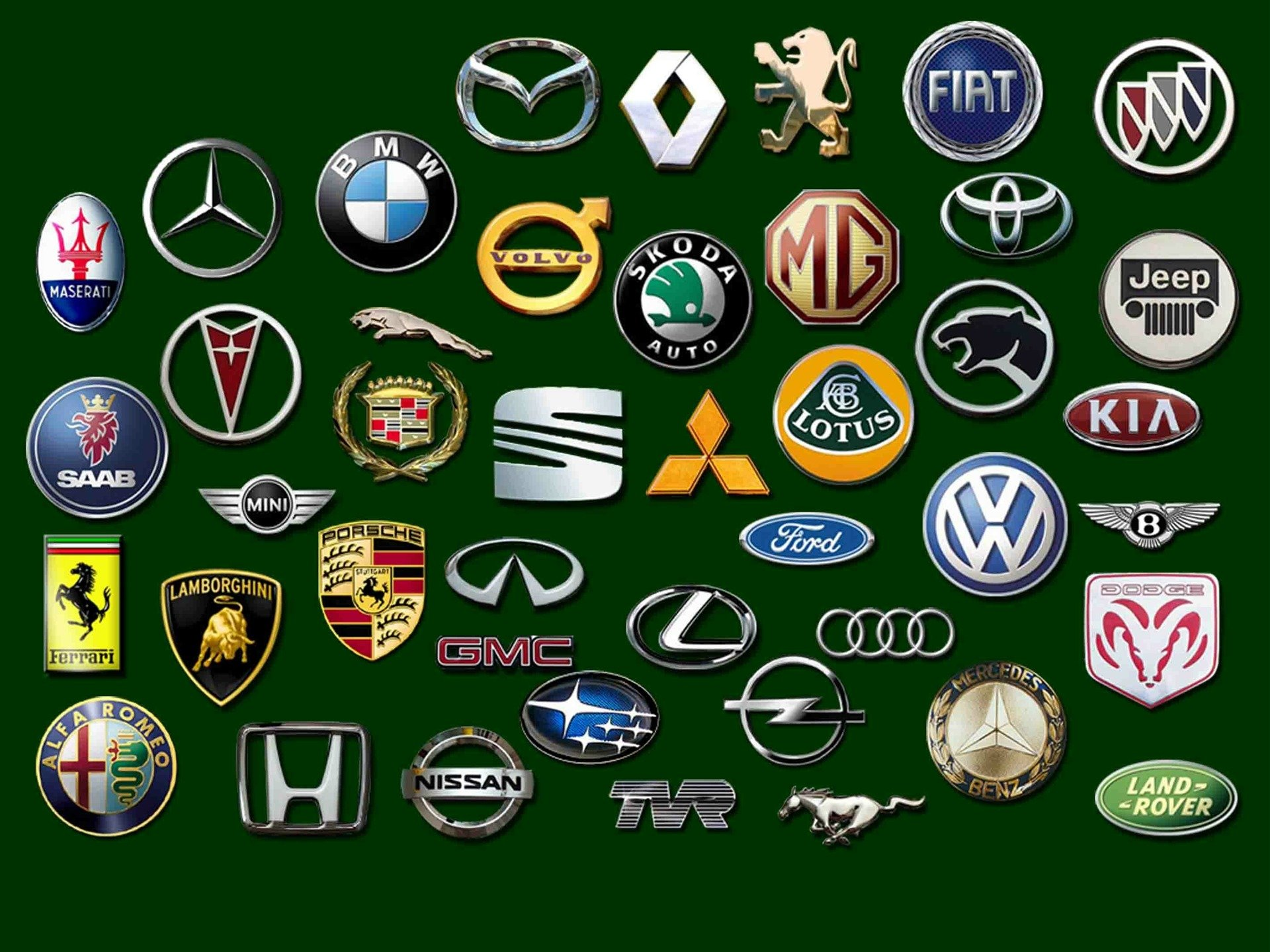 марки автомобилей  и названия