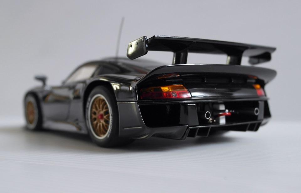 porsche 911 gt1 plain black autoart 1 18 drive2. Black Bedroom Furniture Sets. Home Design Ideas
