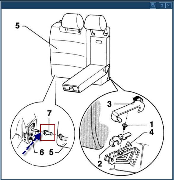 как откинуть спинку заднего сиденья audi a4