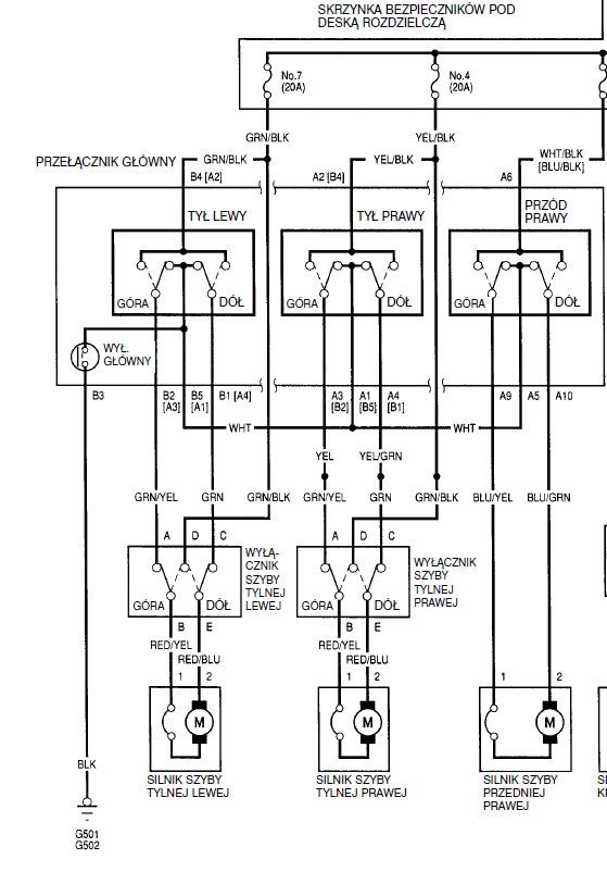 Схема задние стеклоподъемники на приору