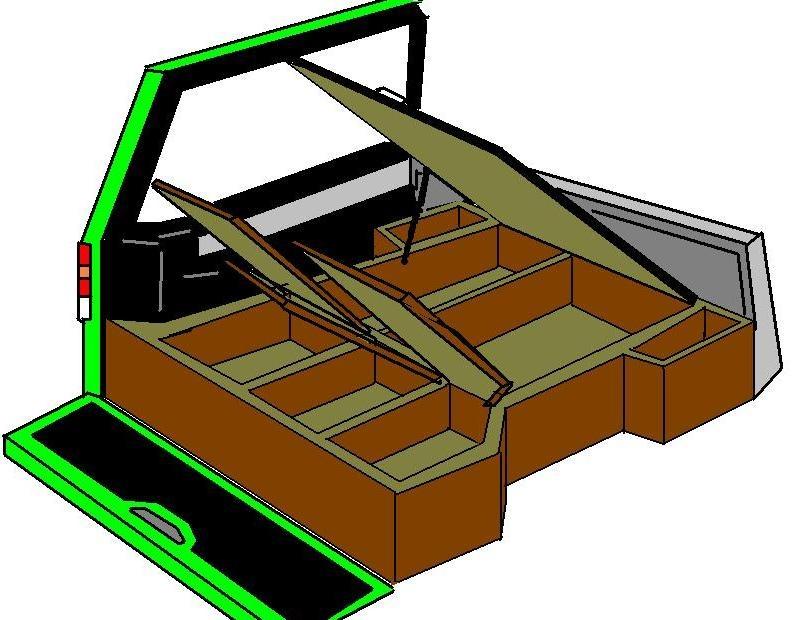 Экспедиционный вариант багажного отделения.