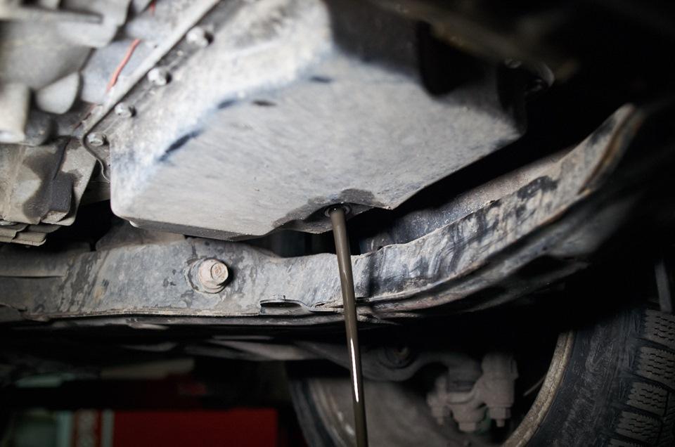 Трансмиссионное масло АКПП Mazda 6 после промежуточного пробега в 1000 км.