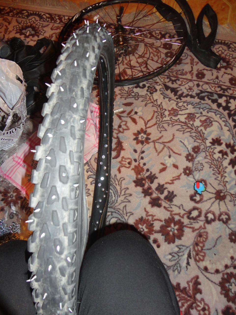 Как сделать зимнюю резину для велосипеда