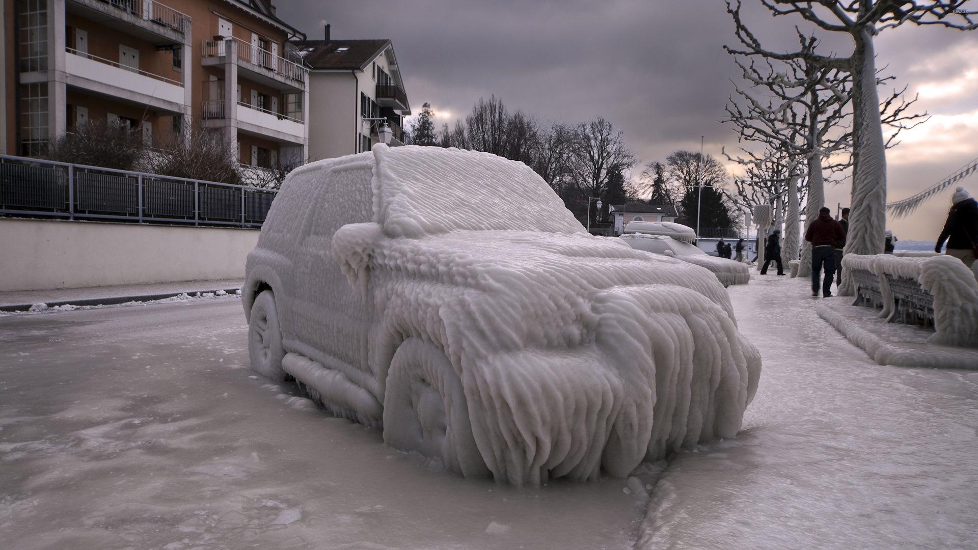 Прикольные картинки про автомобили зимой