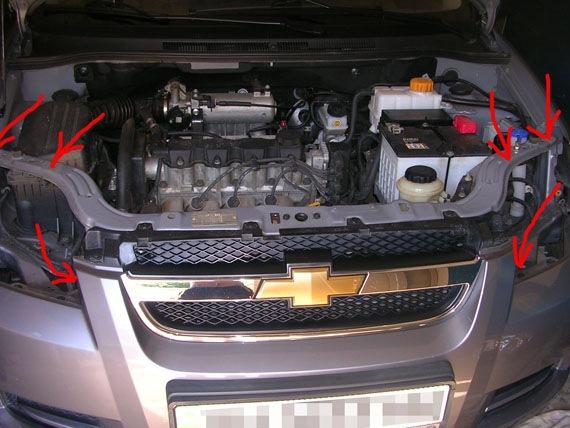 установка кондиционера chevrolet aveo t250