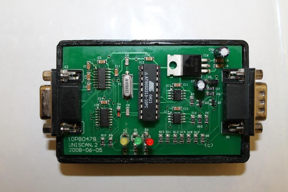 Схема адаптер uniscan
