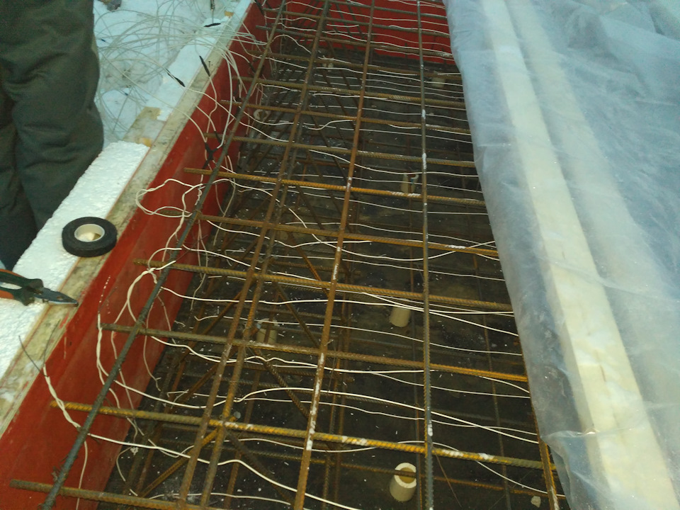 обогрев бетона электродами из арматуры