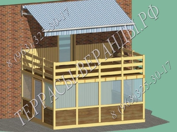 Как построить веранду с балконом своими руками.